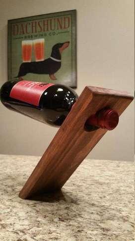 Soporte De Madera Balanceador Para Botella De Vino