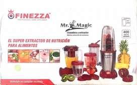 Licuadora Extractora Moledora Mr Magic Rojo