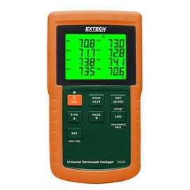 Termómetro de registro de datos de 12 canales -Extech TM500