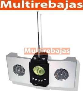 Reloj radio con fecha Hora brujula