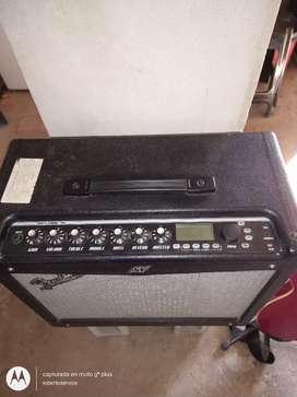 Amplificador fender Mustang 3 y guitarra texas