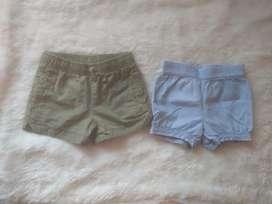 2 shorts marca Carter's