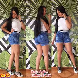 Shorts Jeans strech dama,tallas del 8 al 14.