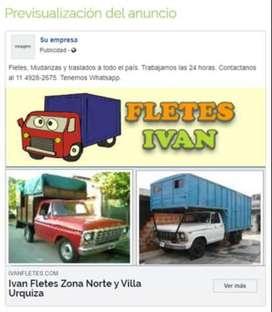 mudanzas villa urquiza 24hs 4574-3837