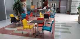 Mesas y sillas para cafetería/restaurante