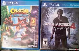 Crash bandicoot y uncharted 4