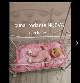 Cuna NUEVA +muñeco NUEVO