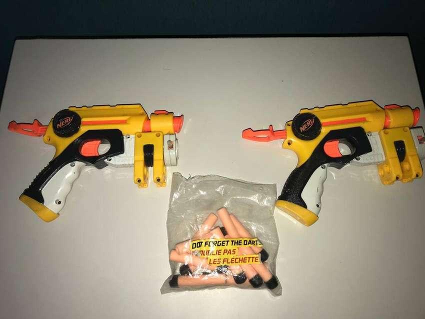 Doble Pistola NERF con láser + 12 balas 0