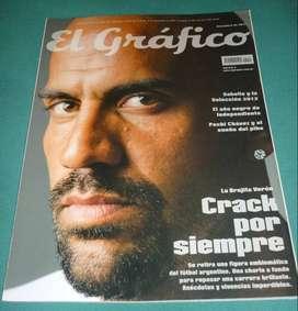 REVISTA EL GRAFICO 4417 TAPA VERON POSTER DOBLE HIGUAIN SEL ARGENTINA Y LUIS SUAREZ URUGUAY 2011