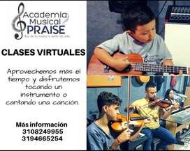 Teclado Guitarra Violin Batería Clases virtuales