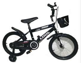 Bicicleta Cool Aro 16 Con Canasta Niños Niñas