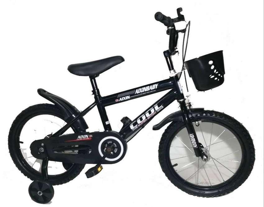 Bicicleta Cool Aro 16 Con Canasta Niños Niñas 0