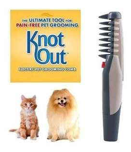 Cepillo Electrico Para Mascota Desenrreda Y Peina Knot Out