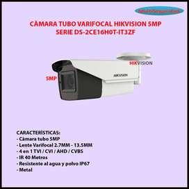 CÀMARA TUBO VARIFOCAL 5MP IR 40M DS-2CE16H0T-IT3ZF INC IVA
