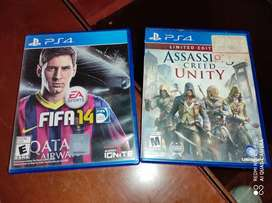 Assasins creed y fifa para ps4