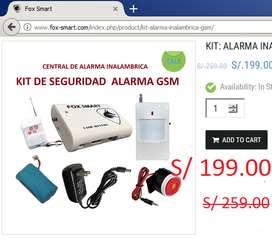 Oferta Kit Alarma Gsm Envia Sms Llamadas Fox smart