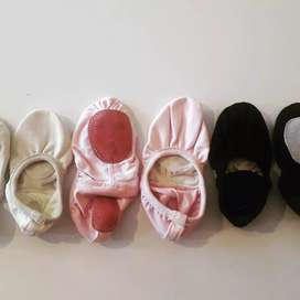 Zapatillas de danzas 1/2 punta de Lona
