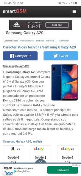 Galaxy A20 Dual libre