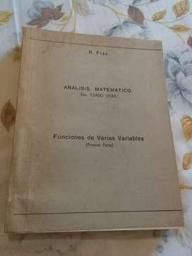 Análisis matemático 2o curso funciones de varias variables . R. Flax