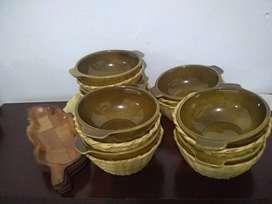 Set de platos soperos X 4 con canastillas