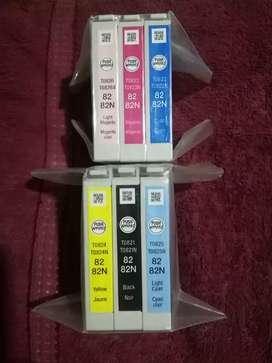 Cartuchos de tinta Epson 82 82N Originales, Nuevos y sellados