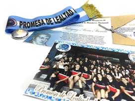 Promesa Bandera Combo Kit Banda Cinta Patria Diploma Pin