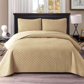 Manta unicolor cama doble y sencilla