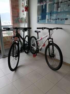 Combo bicicletas MTB. Marcas Marín y GW, tallas M ambas.