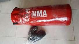 Saco de box + guantes nuevo !!!