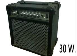 Amplificador 30 ww dos canales efecto.