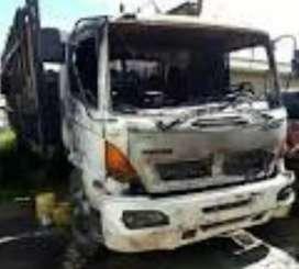 Hino gh quemado matriculado