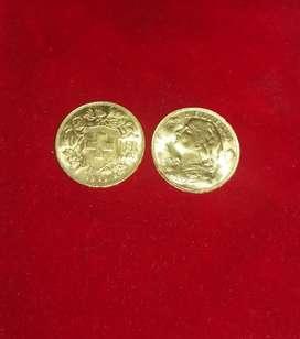 Monedas de oro de colección