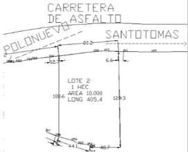 Vendo Lote de 1 Hectaria entre Polonuevo y Santotomas sobre toda la carretera principal (carretera negra)