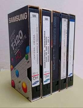 LOTE 15 CINTAS DE VHS  GRABACIONES VARIADAS