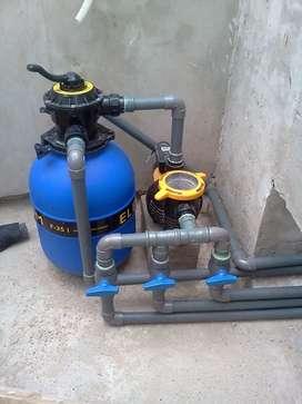 Servicios de mantenimiento de picinas intalación de bombas en general