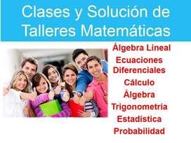 CLASES y SOLUCIÓN de TALLERES de MATEMÁTICAS