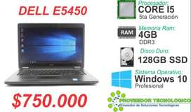 ULTIMOS DELL LATITUDE E5450 COREI5 5TA GEN DISCO 128GB SSD RAM 4GB
