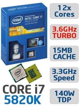 Procesador Intel Core I7 Gaming 5820k 3.30 Ghz 12 Núcleos 15 MB L3 Caché (3.6 Ghz Turbo Boost) 140W