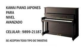 KAWAI PIANO - MODERNO - CERTIFICADO DE INSPECCION