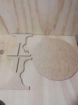 Base para torta de madera MDF desarmable caja de madera decoración de fiestas