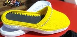 Zapatos tejidos hechos a mano-Todas las tallas-Para todas las edades-y a gusto de color o preferencias