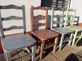 juego de sillas rusticas estilo campo