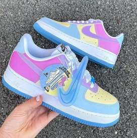 Zapatos nike force one cambia de color