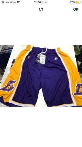 Short violeta basket lakers