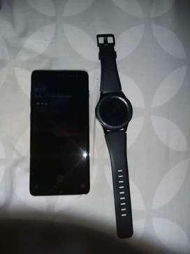 S 10 plus lindo solo 2 meses de uso mas su reloj s3 frontier también solo 2 meses de uso