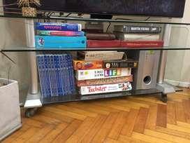 Mesa tv smart de vidrio tres estantes Muy buena calidad