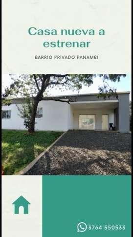 Casa nueva a estrenar en Barrio Panambi