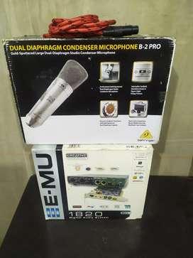 Micrófono beringer B2 profesional con interface