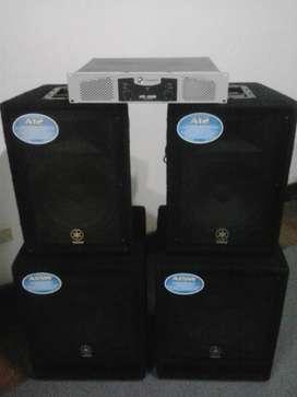 Equipo De Sonido Yamaha A12 (par) Yamaha A15W (par) Crown LPS1500 Excelente Estado 800 Watts Gran Calidad de Audio