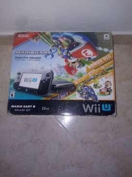 Nintendo Wii U con 5 juegos 2 controles 4 amiibos